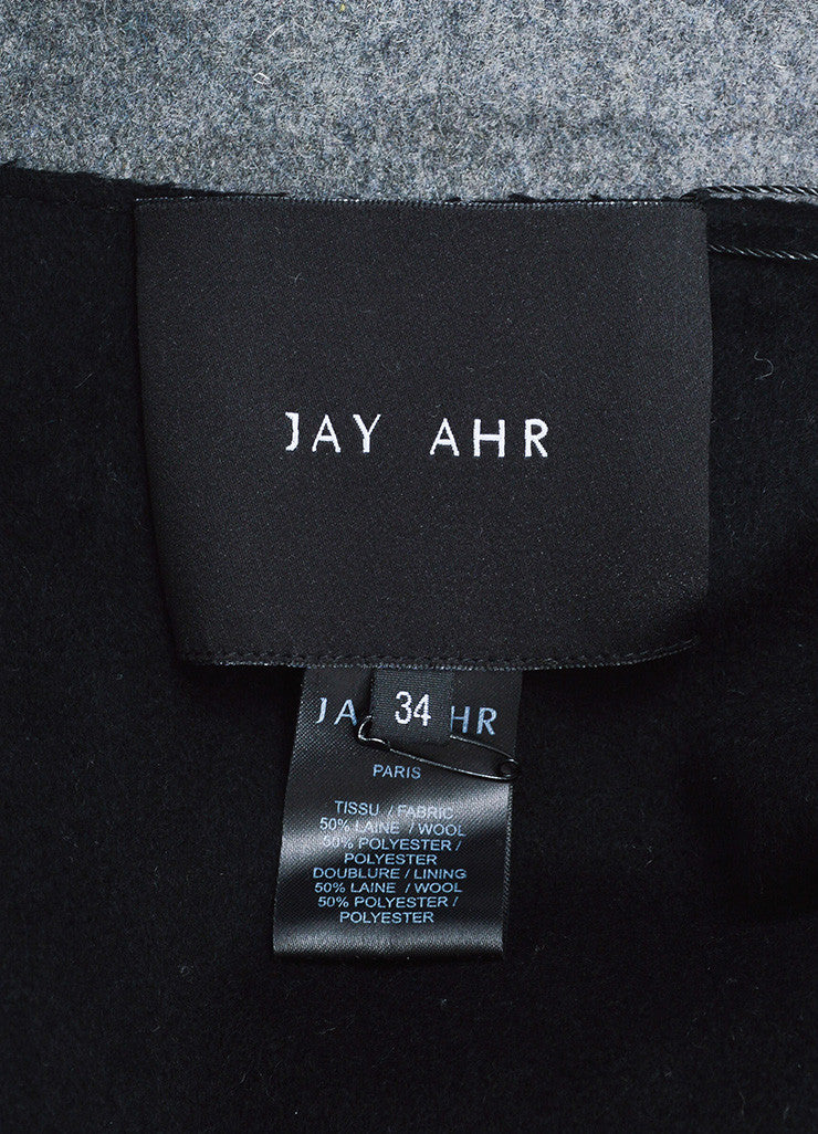 Grey and Black Jay Ahr Wool Blend Cut Outs Cape Brand