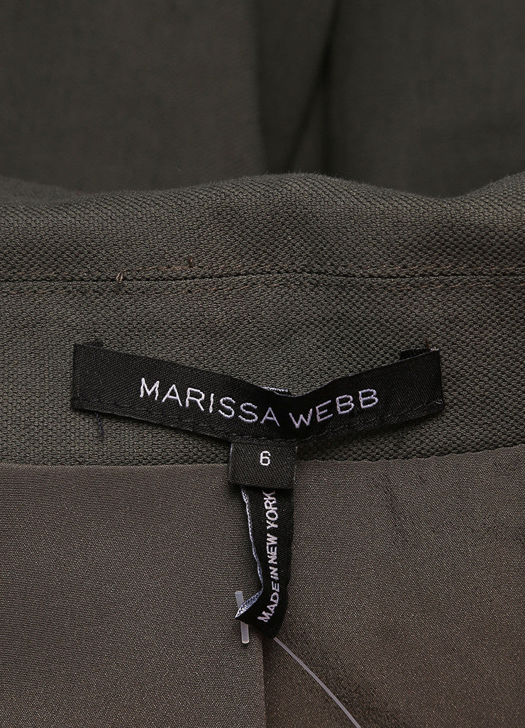 Marissa Webb Olive Green Long Fitted Blazer Brand