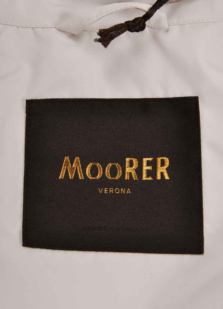 Moorer New With Tags Off White Polyester Military Jacket Brand