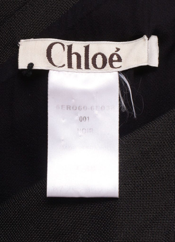 Phoebe Philo for Chloe Black Silk Knit One Shoulder Dress Brand