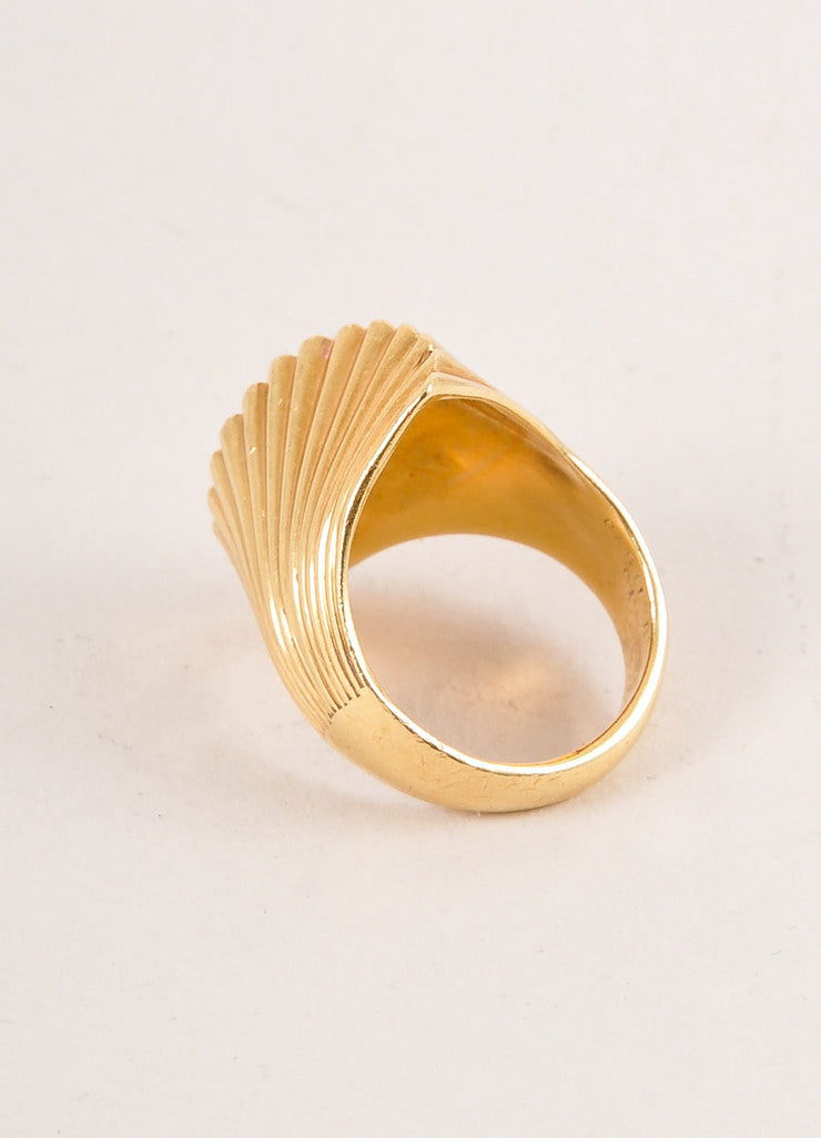 Cartier 18K Gold Wave Ring Sideview