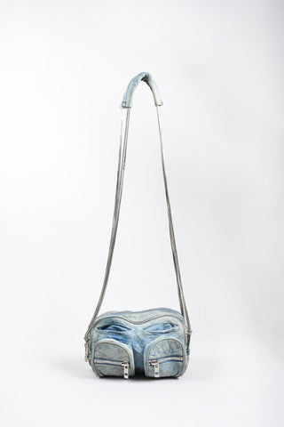 "Blue Alexander Wang Leather ""Brenda"" Crossbody Bag"