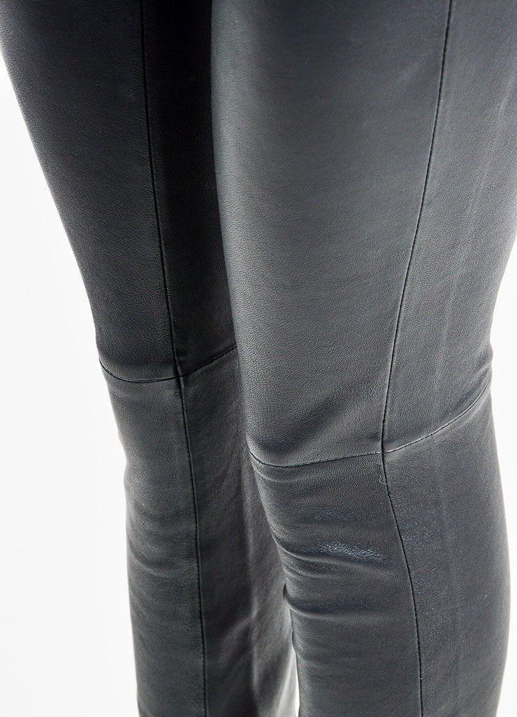 10 Crosby Derek Lam Black Leather Leggings Detail