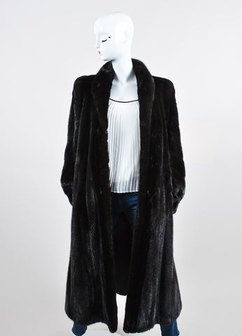Blackglama Black Mink Fur Long Coat Frontview