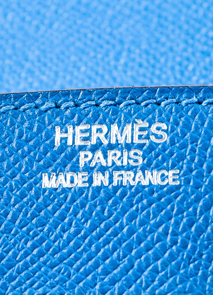 "Hermes Bleu de Galice Epsom Leather Palladium Hardware ""Birkin"" Bag Brand"
