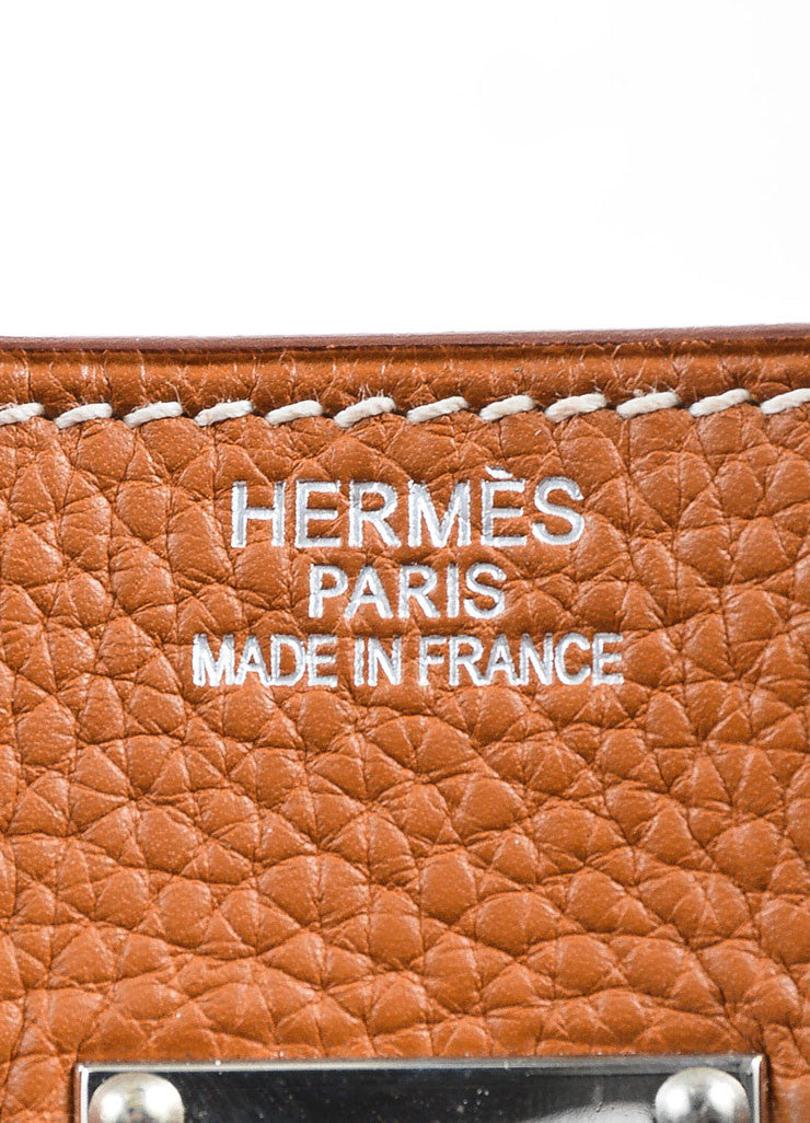 Caramel Tan Hermes JPG for Hermes Leather 42cm Birkin Brand