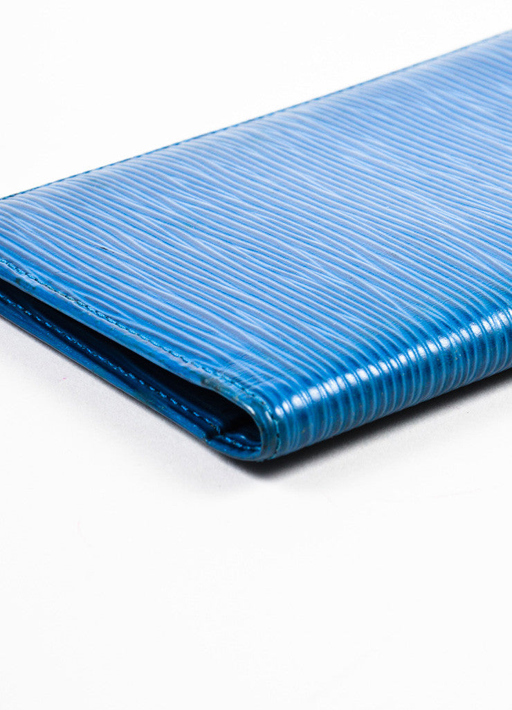 Louis Vuitton Blue Epi Leather Pocket Agenda Cover Detail