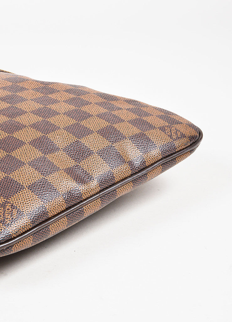 Louis Vuitton Brown Damier Printed Coated Canvas Pochette Bosphore Bag Detail