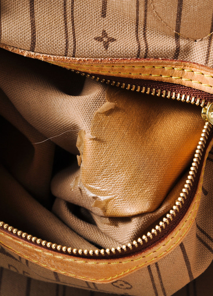 "Louis Vuitton Brown Monogram Canvas ""Neverfull GM"" Shoulder Tote Bag Detail 7"