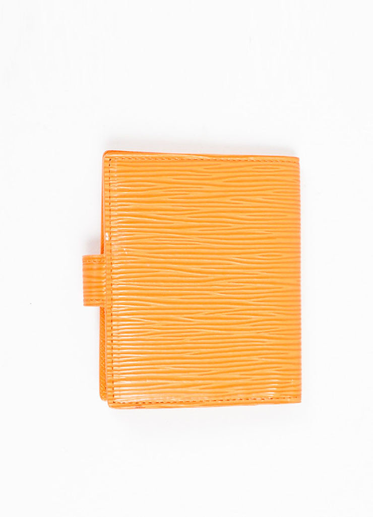 Louis Vuitton Orange Epi Leather Card Holder Wallet Backview