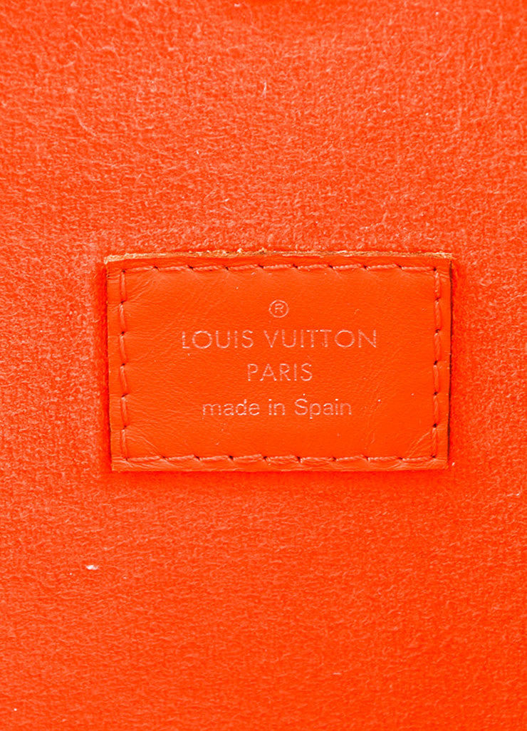 "Louis Vuitton Orange Epi Leather ""Neverfull MM"" Tote Bag Brand"