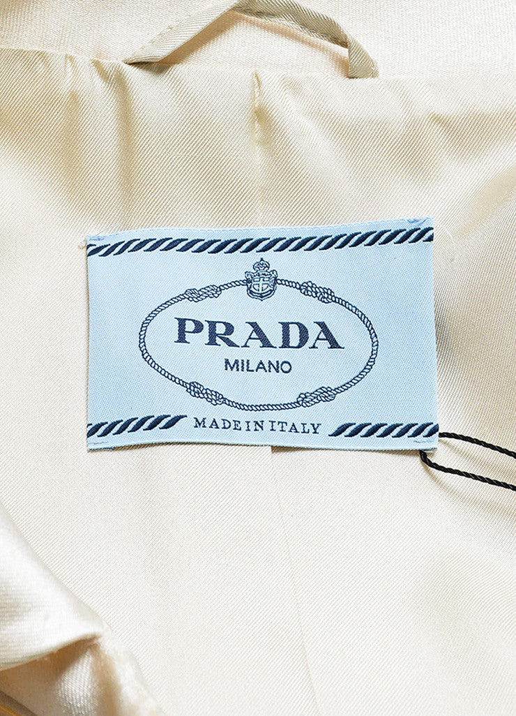 Prada Cream and Red Silk Ombre Long Jacket Brand
