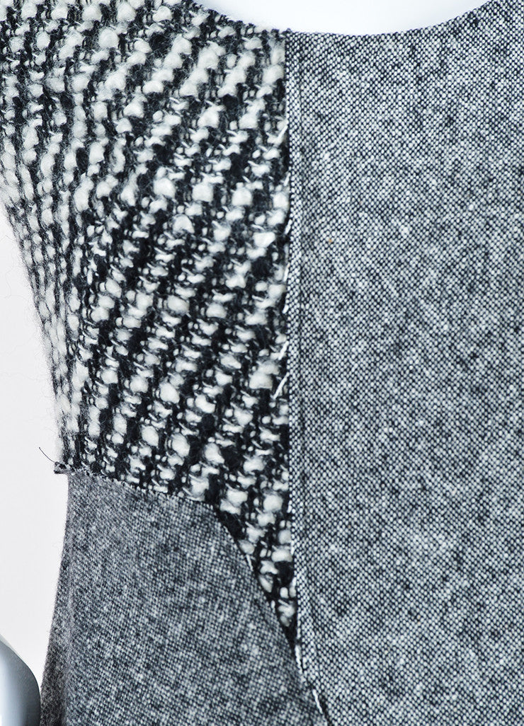 "Grey Wool Tweed Stella McCartney ""Jackie"" Sleeveless Midi Dress Detail"