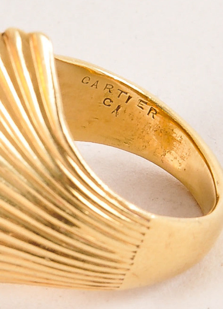 Cartier 18K Gold Wave Ring Brand