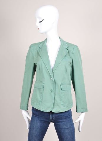 Boy. by Band of Outsiders New With Tags Light Green Cotton Blazer Frontview