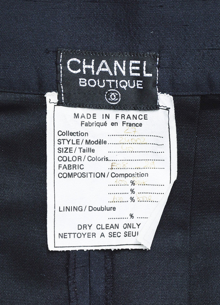 Chanel Navy Blue Silk Soft Pleated Culotte Shorts Brand
