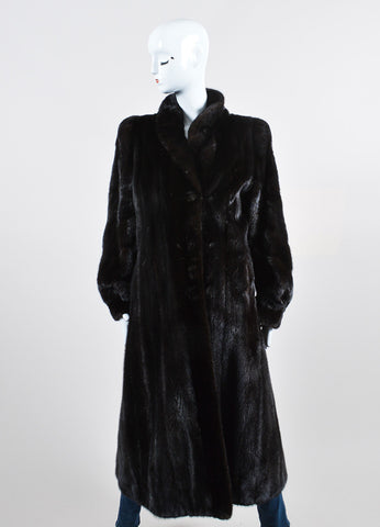 Blackglama Black Mink Fur Long Coat Frontview 2