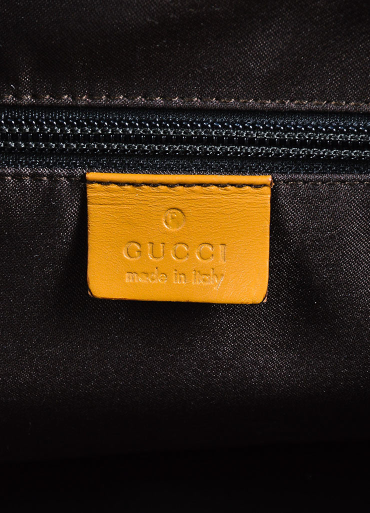 Gucci Beige Canvas Leather Monogram Shoulder Bag Brand
