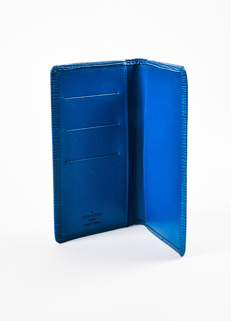 Louis Vuitton Blue Epi Leather Pocket Agenda Cover interior