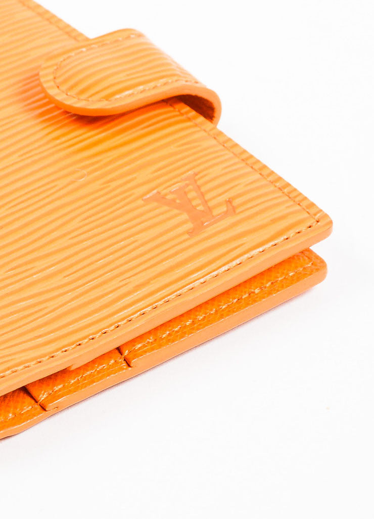 Louis Vuitton Orange Epi Leather Card Holder Wallet Detail 2