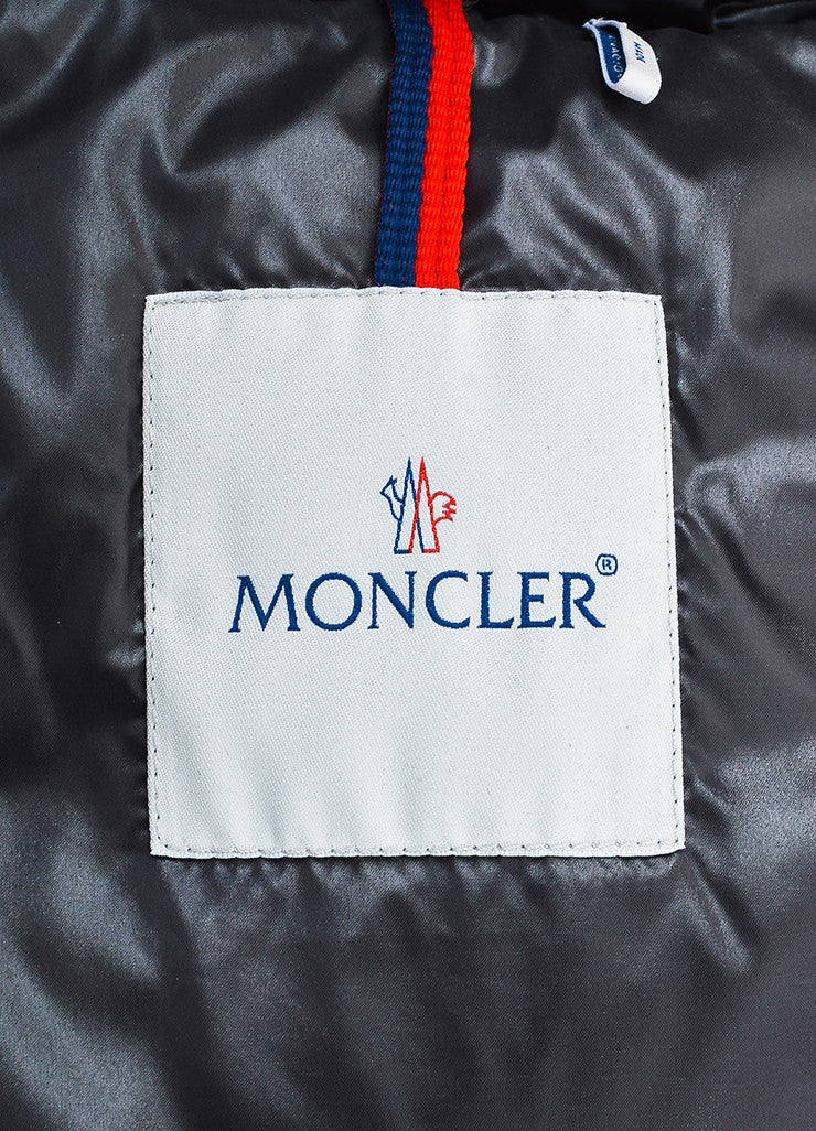 Black Moncler Nylon Down Quilted Puffer Vest Brand
