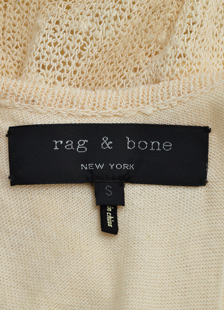 "Rag & Bone Cream Knit Knee Length Asymmetric Racerback ""Bridget"" Tank Dress Brand"