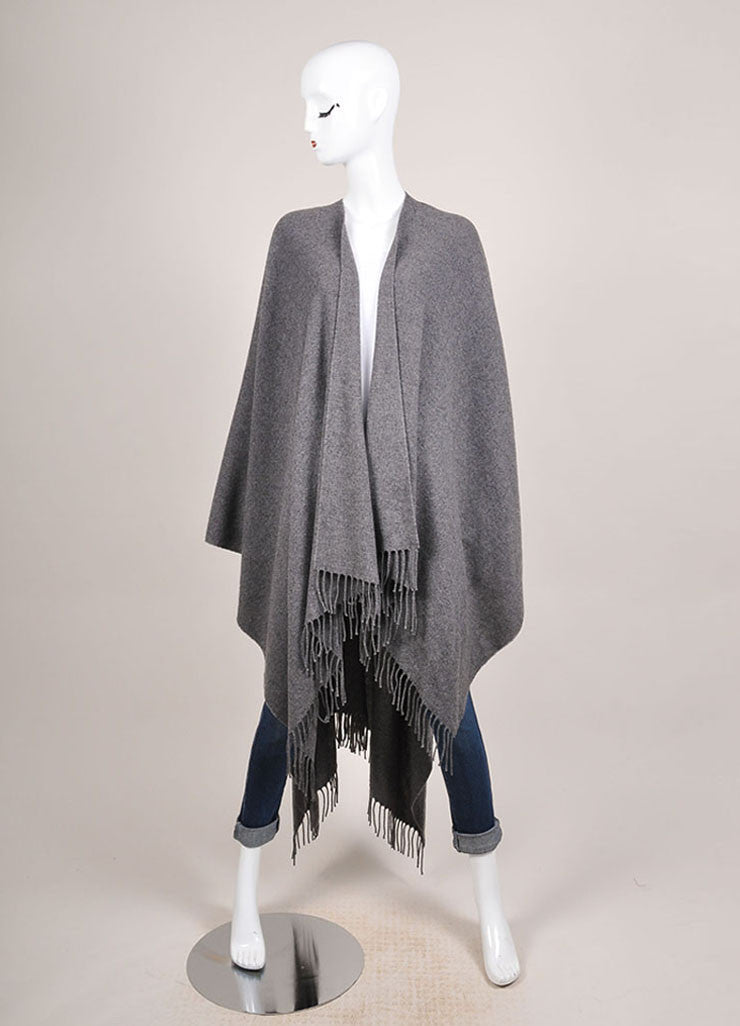 The Row New With Tags Grey Cashmere Shawl Wrap Frontview