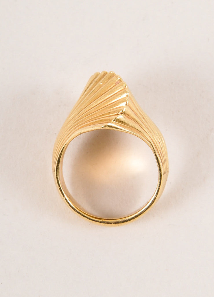 Cartier 18K Gold Wave Ring Topview