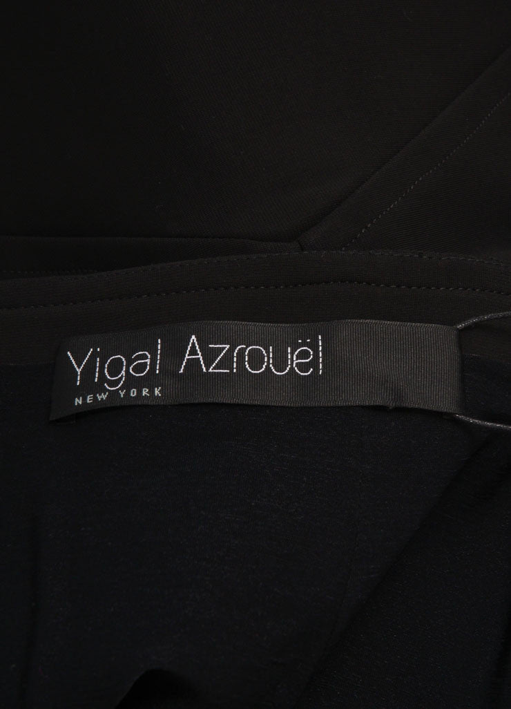 Yigal Azrouel New With Tags Black and Green Mechanical Stretch Paneled Pencil Skirt Brand