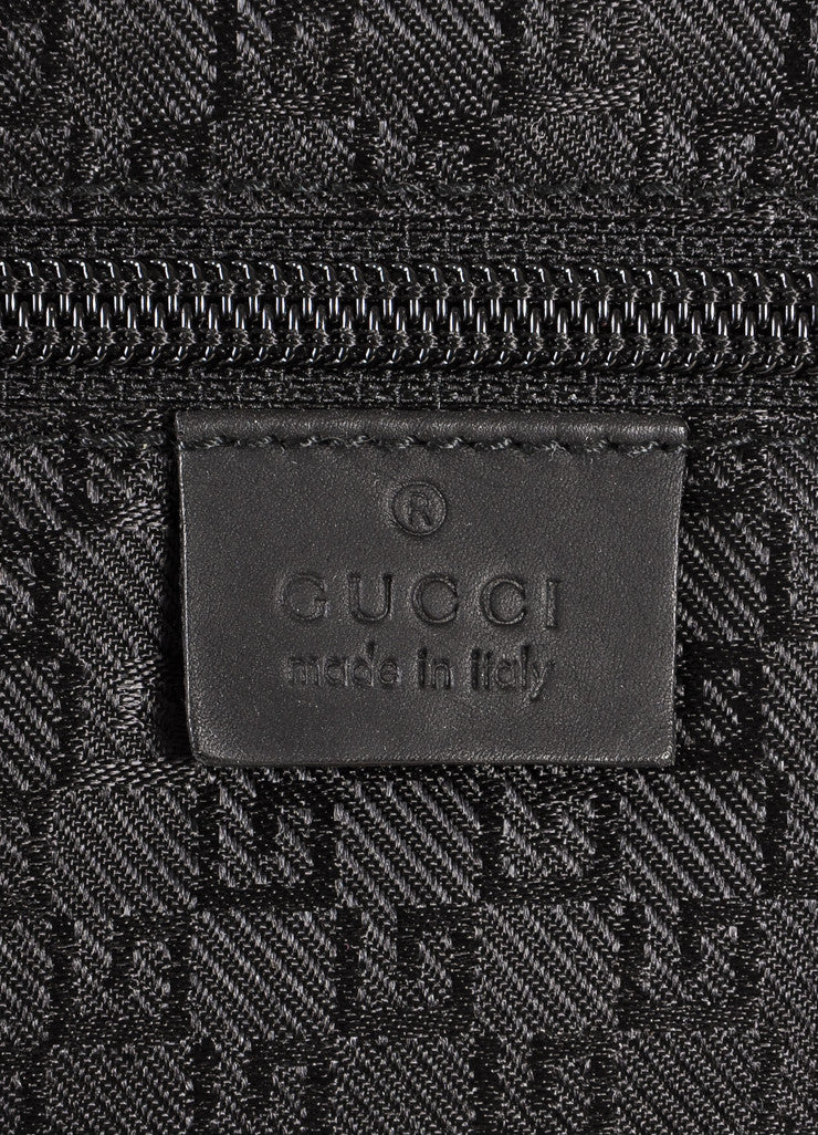Gucci Black Canvas Carry-On Rolling Suitcase Brand