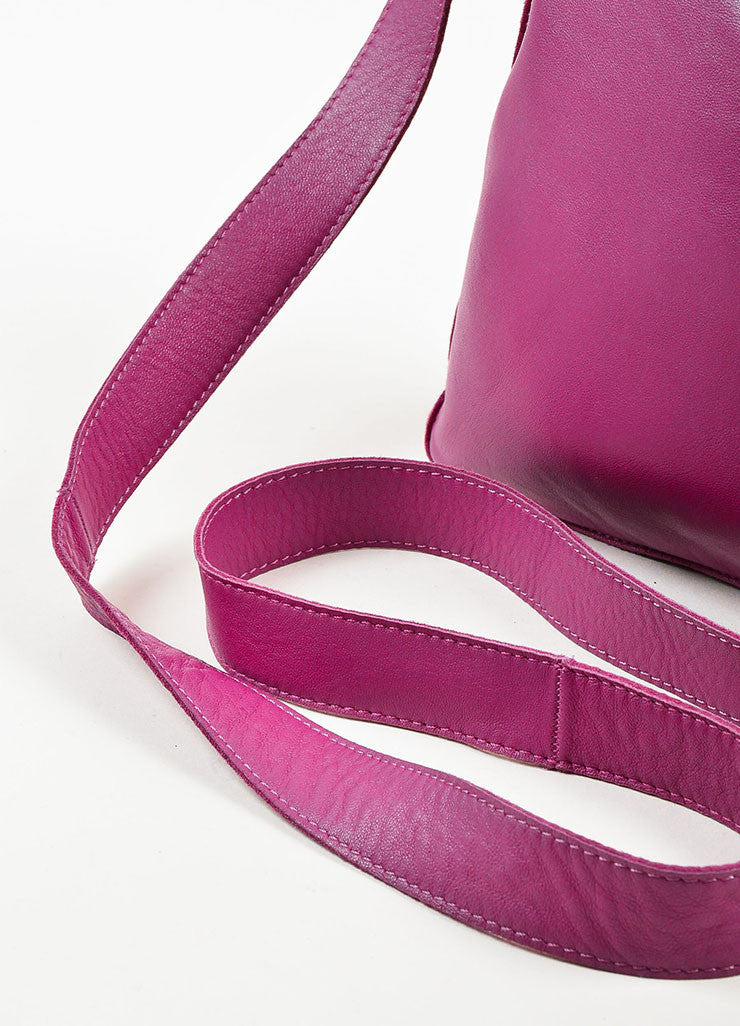 "Hermes Dark Magenta Lambskin Leather Perforated Logo ""Clou de Selle"" Bag Detail 2"