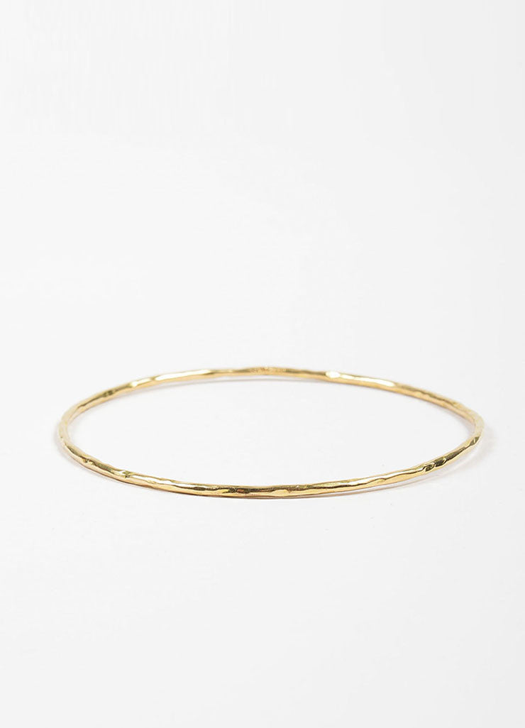 "18K Yellow Gold Ippolita ""Glamazon"" Thin Bangle Bracelet Frontview"
