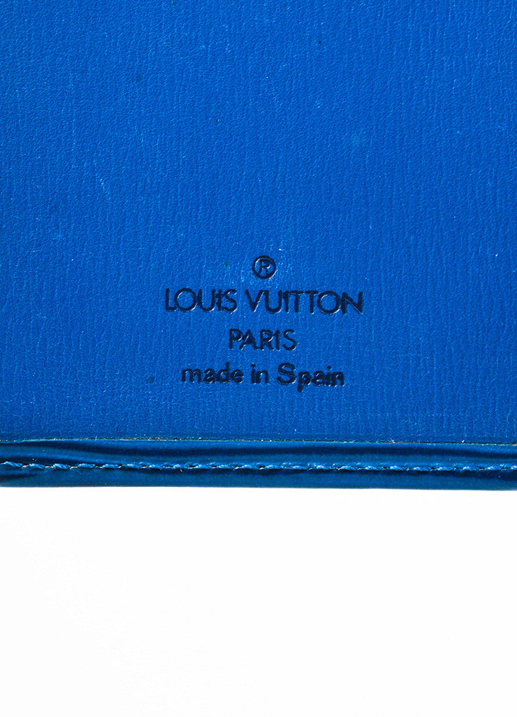 Louis Vuitton Blue Epi Leather Pocket Agenda Cover Brand