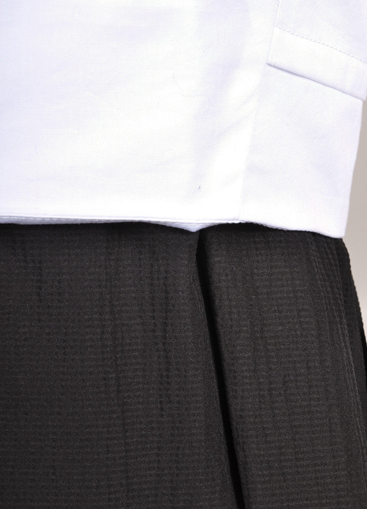 Proenza Schouler New With Tags Black and White Cap Sleeve Crepe Skirt Combo Dress Detail