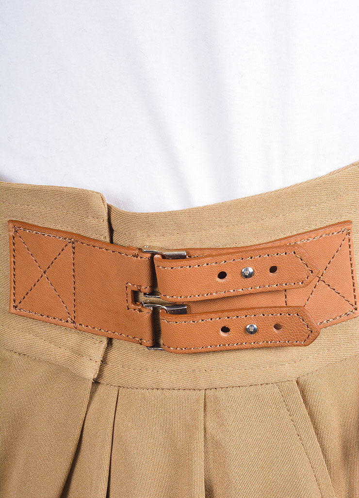 Ralph Lauren New With Tags Tan Pleated Tapered Pants Detail