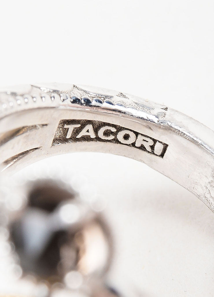 Tacori Sterling Silver, 18K Gold, Diamond, and Quartz Midnight Sun Ring Brand