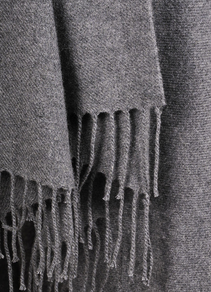 The Row New With Tags Grey Cashmere Shawl Wrap Detail