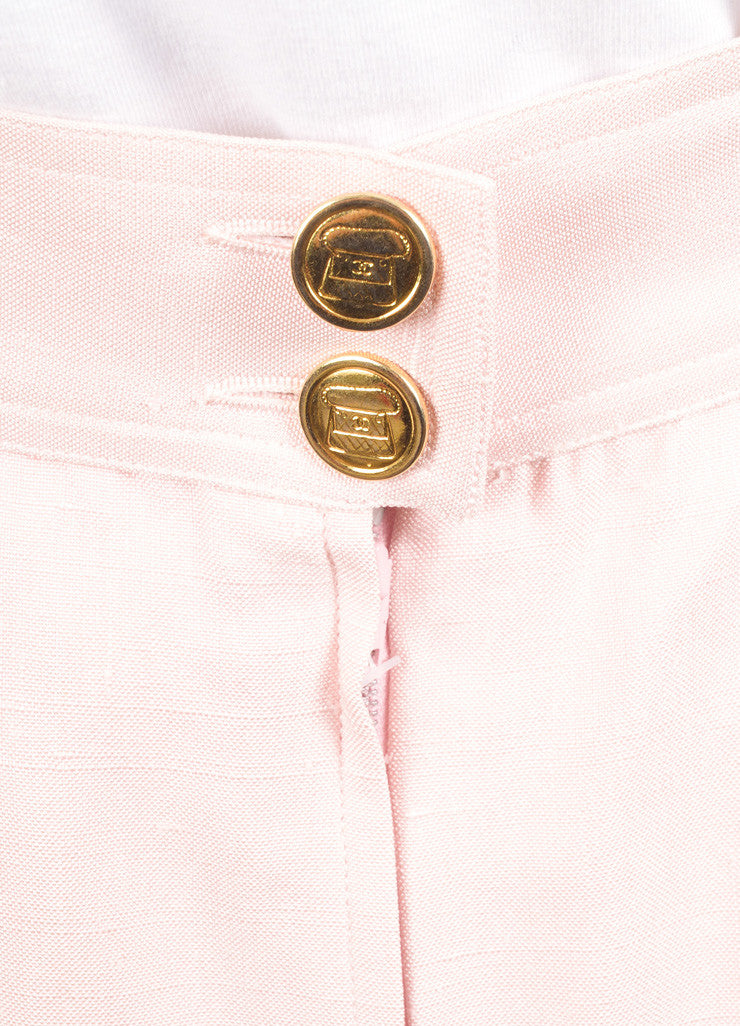 Chanel Light Pink Pencil Skirt Detail