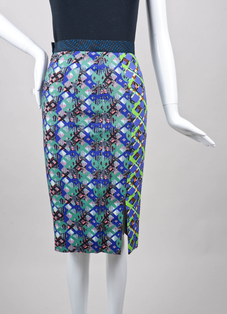 New With Tags Multicolor Geometric Pencil Skirt