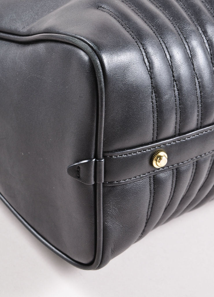 "3.1 Phillip Lim Black Paneled ""Ryder"" Satchel Bag Detail"