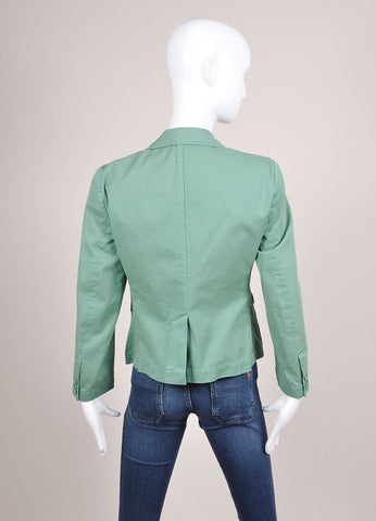 Boy. by Band of Outsiders New With Tags Light Green Cotton Blazer Backview
