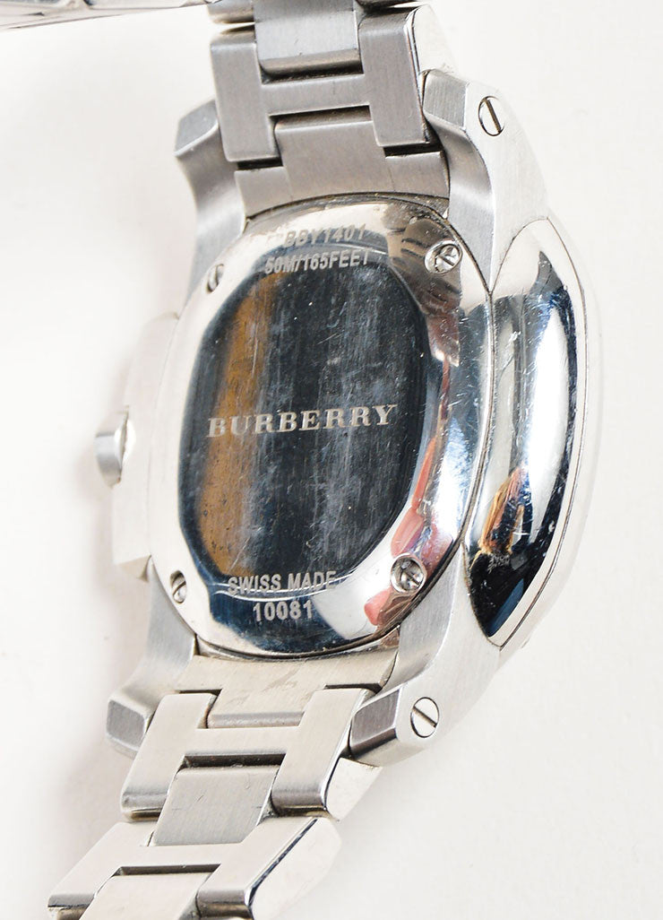 Stainless Steel Burberry Diamond Mother of Pearl Watch Brand