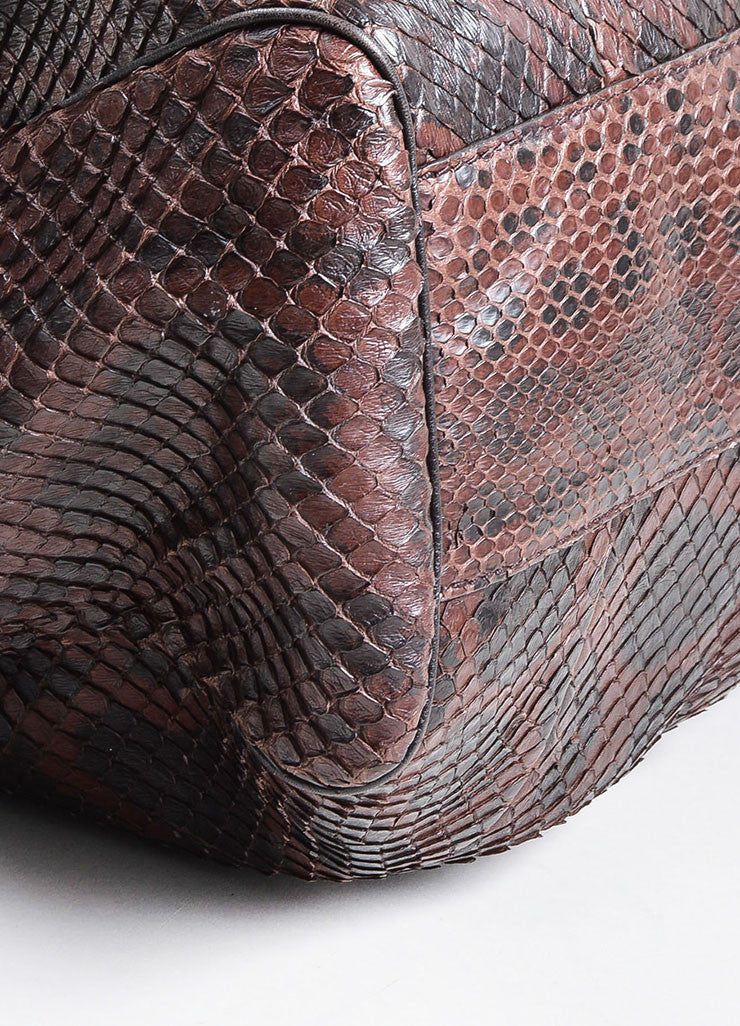 "Brown and Black Gucci Python Large ""Sukey"" Hobo Bag Detail"