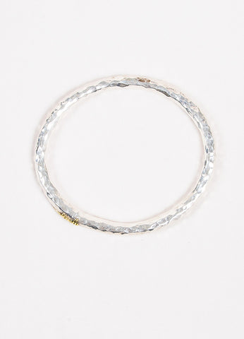 "Ippolita Sterling Silver Glamazon Collection ""Signature"" Hammered Bracelet Topview"