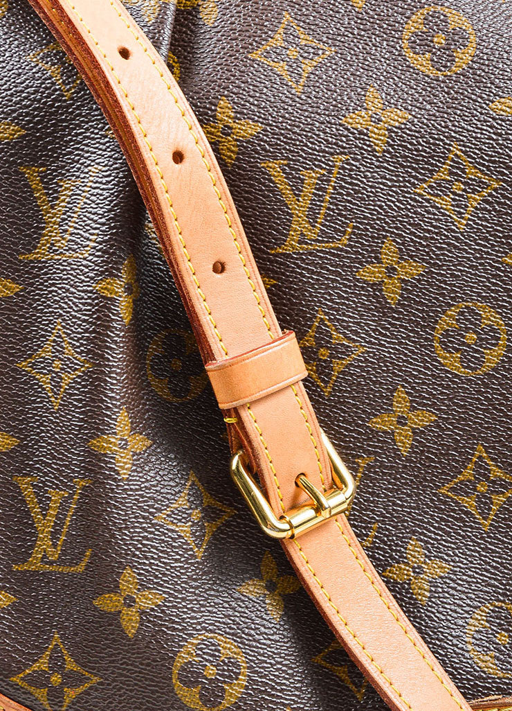 "Brown and Tan Louis Vuitton Coated Canvas Monogram ""Menilmontant MM"" Shoulder Bag Detail 2"