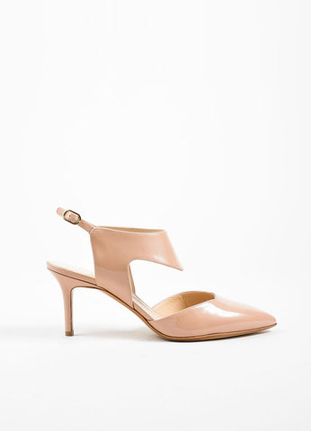 "Nude Nicholas Kirkwood Patent Leather ""Leda"" Cut Out Pumps Sideview"