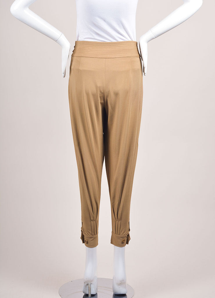 Ralph Lauren New With Tags Tan Pleated Tapered Pants Backview