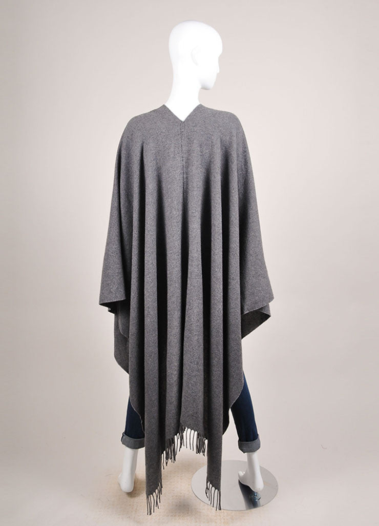 The Row New With Tags Grey Cashmere Shawl Wrap Backview