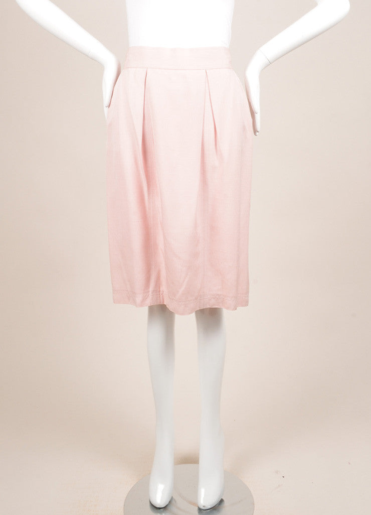 Chanel Light Pink Pencil Skirt Frontview