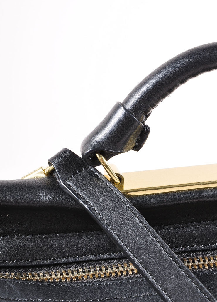 "3.1 Phillip Lim Black Paneled ""Ryder"" Satchel Bag Detail 2"